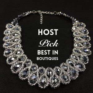 Chunky Choker Crystal Statement Necklace